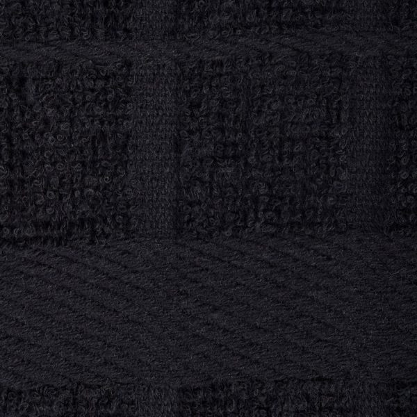 Windowpane Dish Cloths and Ultra Absorbent Kitchen Bar Towels - Black