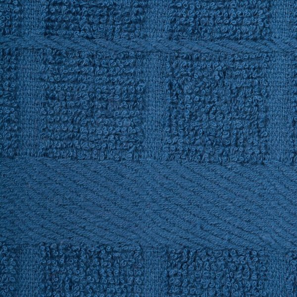 Windowpane Dish Cloths and Ultra Absorbent Kitchen Bar Towels - Blue